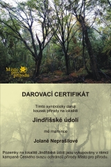 Darovací certifikát - ukázka